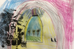 Natalia Anciso Inspired Mixed Media Print, 1st Grade