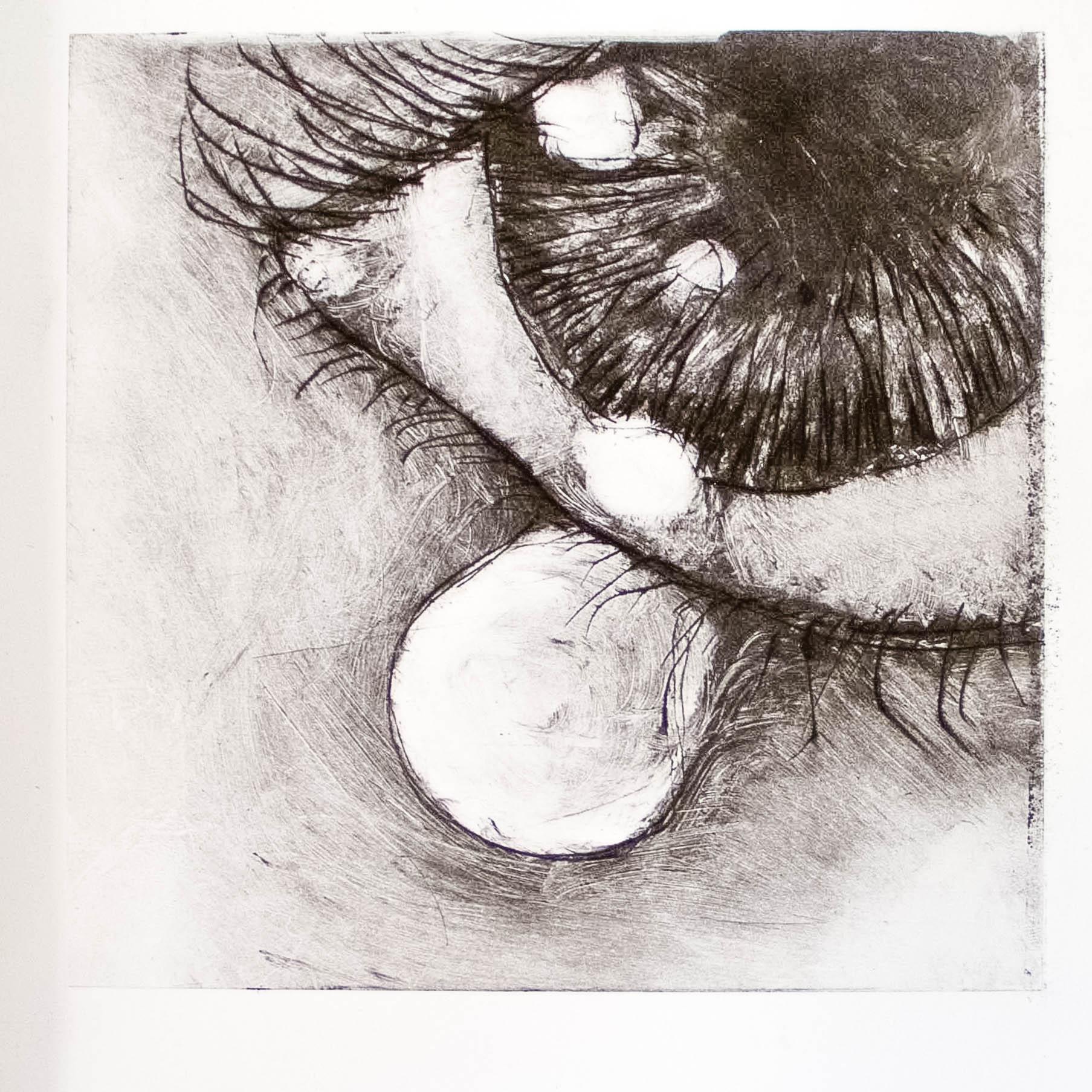 "Regina Viqueira, Macro micro, from ""Dismantle"" series, 2013, intaglio print"